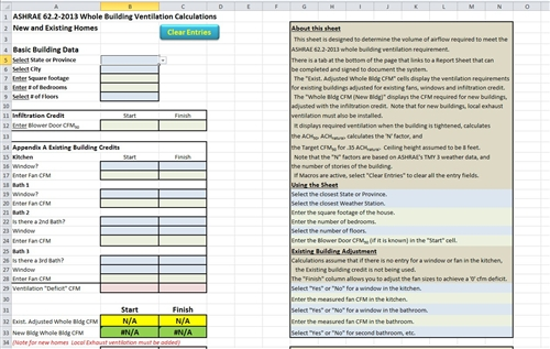Ashrae 62 2 2013 whole building spreadsheet for Building calculations