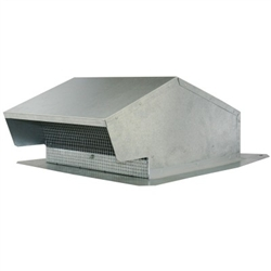 "Flush mounted 10"" galvanized metal roof cap"