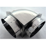 4 inch Close Elbow, SAF-T-DUCT® 90' Elbow