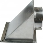 "4"" Metal Eave Vent w/screen no damper"