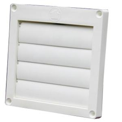 Louvered Plastic hood for 4 inch duct