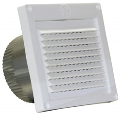 "4"" Fixed Louvered Fresh Air Intake with 3"" tail"