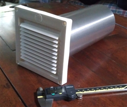 "4"" Fixed Louvered Fresh Air Intake w/10"" Tail"