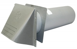 "4"" Wide Mouth, Heavy Duty Dryer Vent with wall sleeve"