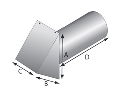 Heavy Gauge Aluminum Hood with Flapper & Screen