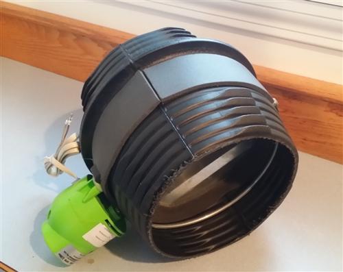 24 volt motorized damper for 8 inch ducting Motorized duct damper