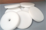 Twenty-five foam insulation disks