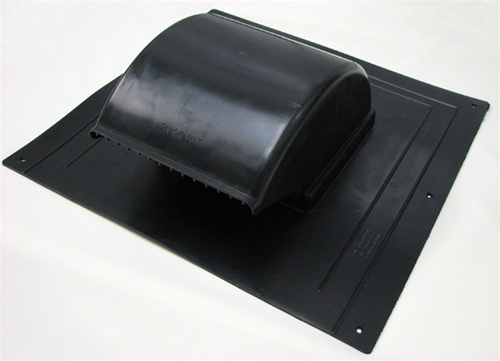 Roof mounted exhaust vent with duct adapter
