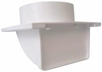 "White soffit vent for 5""ducting with backdraft damper"