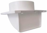 "White soffit vent for 6""ducting with backdraft damper"