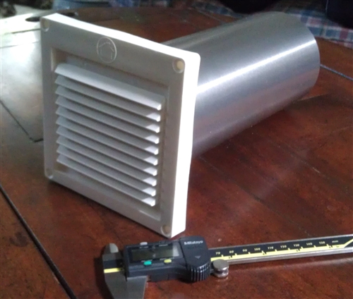 Air Intake Vent : Quot fixed louvered fresh air intake w tail