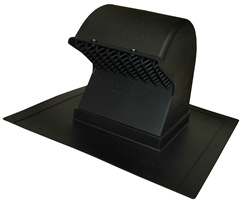 Black Roof Mounted Exhaust Vent