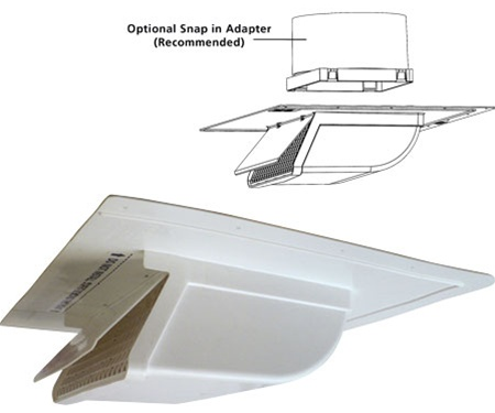Soffit intake exhaust vent for 6 bathroom roof vent