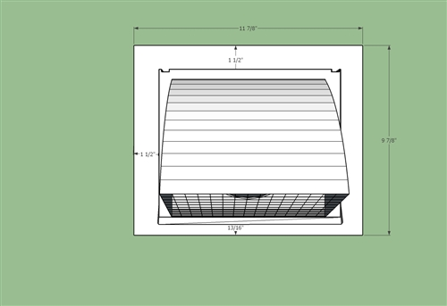 Intake Or Exhaust Vent Hood For 6 Quot Ducting